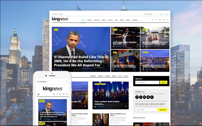 KingNews – Magazine & Blog WordPress Theme – Top Theme Deals